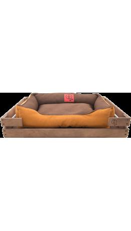 Лежак GT Dreamer Kit Chestnut L 98 x 64 x 15 см (Brown-Beige)
