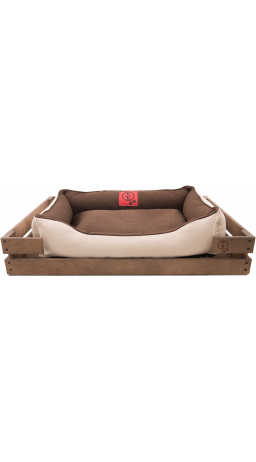 Pet Couch GT Dreamer Kit Chestnut XXL 128 x 84 x 16 sm (Brown-White)