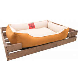 Лежак GT Dreamer Kit Chestnut M 78 x 54 x 12 см (White-Beige)