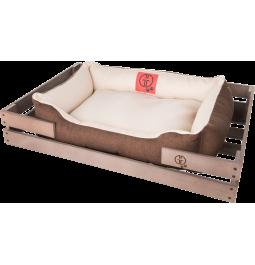 Лежак GT Dreamer Kit Chestnut M 78 x 54 x 12 см (White-Brown)