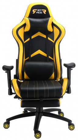 Gaming chair GT Racer X-2534-F Black/Yellow