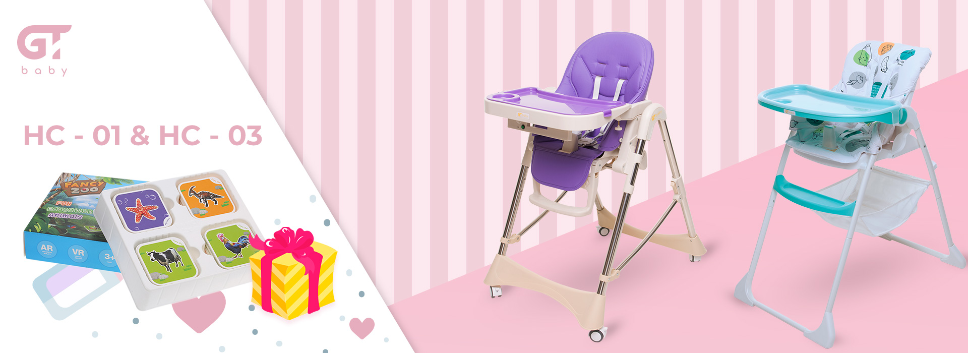 Stock! Game Fancy Zoo as a gift to the GT Baby highchairs and strollers!